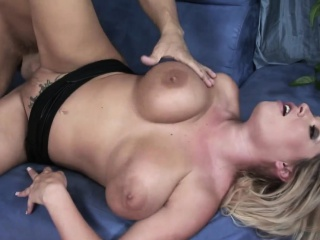 Blonde big tit pornstar fucked good