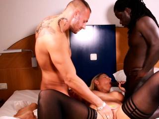 german blond mom big ass natural tits threesome
