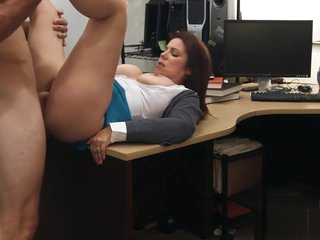 Busty milf pounded by horny pawn keeper at the pawnshop