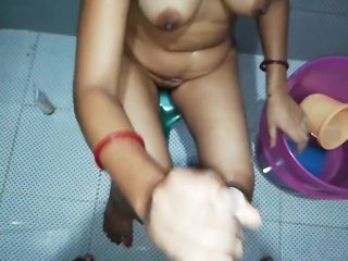 INDIAN bhabhi Sucking Dick in the Bathroom