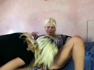 German Long Labia Piercing MILF Lesbian Double Dildo German