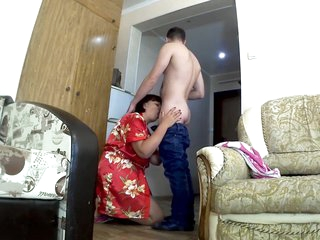 Son fucks stepmom in a big ass. Mom and son anal sex