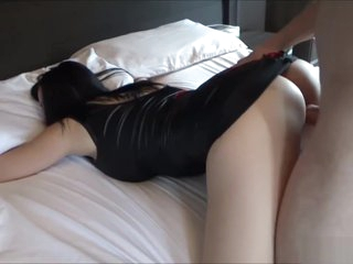 Big Tits Young Mom In Tight Leather Dress Wants To Be Fucked & Cum In Mouth