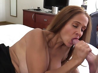 HotWifeRio fucking a big cock and eating cum