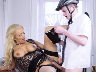 Thick milf with big tits first time She got poked until