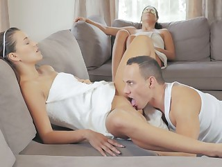 Step Mom And Daughter Alexa Threesome Fucking