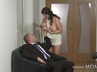 MOM Big breasted wife loves cock