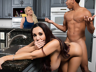 Ava Addams  Ricky Johnson in One Strict Mama - BrazzersNetwork