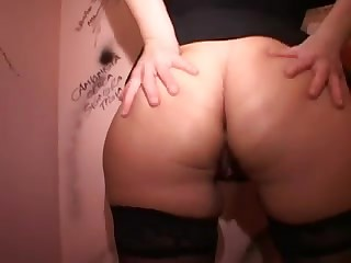 Large ass Italian Mother I'd Like To Fuck can't live without gloryholes and hard copulates