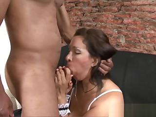 Hot Latina MILF Interracial Hardcore Sex