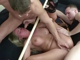 BDSM Fetish Threesome With Hot Chubby Milf