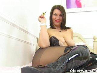 Voluptuous milfs are doing some very naughty stuff in front of the camera, just for fun