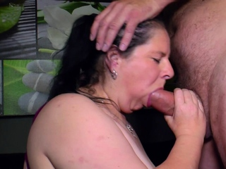 german big natural boobs fat housewife seduced at casting