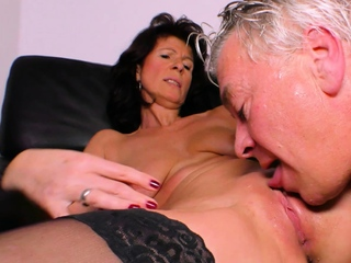 german ugly chubby housewife fuck with a cucumber