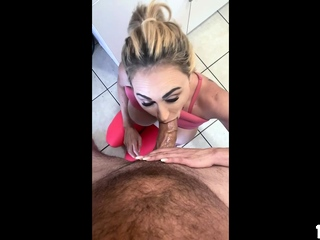 Busty milf offers her pussy to pay for the place she rents