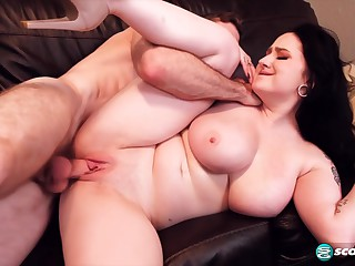 Nyx Monroe is a plump, tattooed brunette who cant wait to get cum on tits