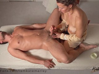 Relaxing Slow Sensual Tantric Lingham Massage Ends With Creampie - Kate Marley
