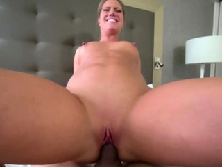 My blonde stepmother Candice has an awesome camel toe