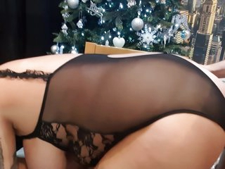 Wife Gets The Gift Of A Huge Load Of Cum For Christmas After Bending Over For Cock By The Xmas Tree