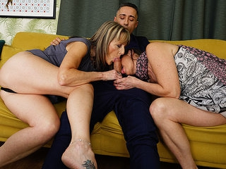 Horny British Housewife Takes It Up The Ass In Hot Threesome With Her Girlfriend And Their Stud - MatureNL