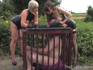 Mistress Amica Bentley & Lady Nina Birch Make Slave A Cum Slut