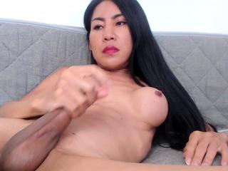 Solo tgirl amateur cumshots after masturbating