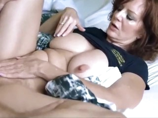 Lucky son with big cock fucked hard his mature mother on vacation