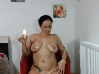 HotHelenXXX Hot Wax Nude Oiled