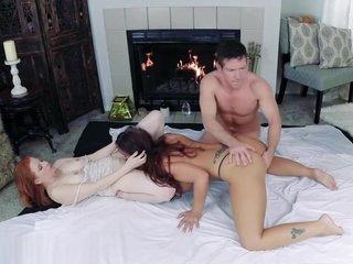 Sensual Suite Threesome *FULL VID* Syren De Mer, Lady Fyre, Laz Fyre FFM
