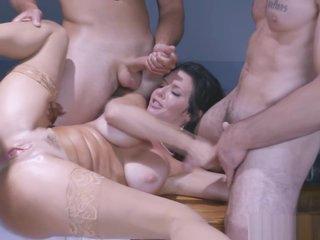 Three horny men and Veronica Avluv