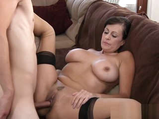 Mature chick moans and gets off