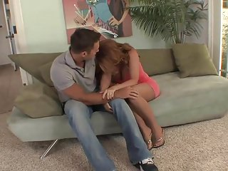 Top mature milf redhead in stockings fucks great