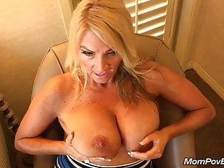 Big tits MILF fucks behind the scenes